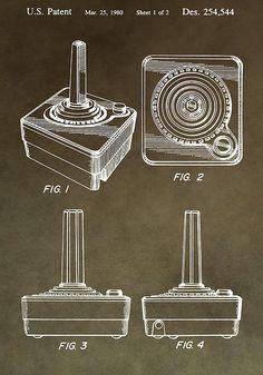 Atari Game Controller Patent Print By Dan Sproul
