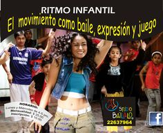"""Clases de BAILE INFANTILES para Niñ@S de 5 años en adelante en """"Studio Báilalo"""". Éste es un curso libre denominado """"RITMOS LATINOS INFANTIL"""", donde sus hijas e hijos desarrollarán grandes destrezas psicomotoras a través del movimiento como baile, expresión y juego. Los niños recibirán clases de Salsa, Merengue, Hip Hop, Jazz, Bachata etc. con una profesora altamente calificada en la:  MODALIDAD: Lunes y Miércoles. HORARIOS: 04:00 pm a 05:00 pm. COSTO: $25 INSCRIPCIÓN: $10."""