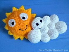 Amigurumi Sun and Cloud - FREE Crochet Pattern / Tutorial