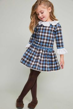 Colección | Tartaleta Cute Little Girl Dresses, Cute Outfits For Kids, Baby Girl Dresses, Baby Dress, Baby Cosplay, Girls Tartan Dress, Toddler Fashion, Kids Fashion, Young Fashion