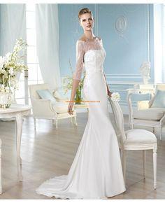 Sexy Brautkleider aus Satin mit schleppe