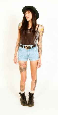 80's High Waisted Shorts Wranglers XS Teal Acid by iHeartHella, $34.00