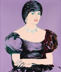"ANDY WARHOL | Princess Diana, 1982 | synthetic polymer paint and silkscreen ink on canvas    Sold for £993,250 at the Contemporary Art Evening Sale, 28 June 2012, London.    ""Fantasy love is much better than reality love. Never doing it is very exciting. The most exciting attractions are between two opposites that never meet."" - Andy Warhol    Instantaneously recognizable as both a product of Andy Warhol's artistic output and a portrayal of one of the most iconic women of the twentieth cen"
