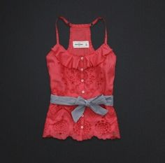 Abercrombie cute coral-colored tank top <3