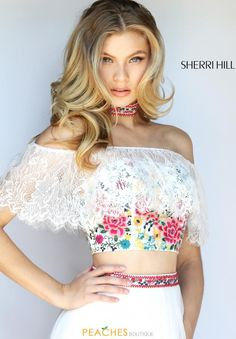 Sherri Hill Cap Sleeved A Line Dress 51022