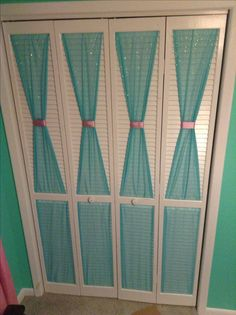 An old friend just did this to their soon to be daughter's bedroom closet. So cute!