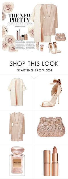 """Mini Dress"" by lifestylestories ❤ liked on Polyvore featuring Esme Vie, Sophia Webster, Giorgio Armani and Charlotte Tilbury"