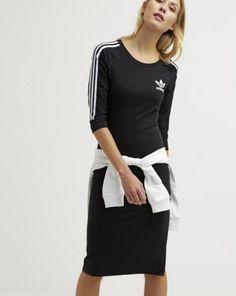 adidas Originals Sukienka z dżerseju black