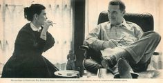 Ray and Charles Eames at home #eameshouse