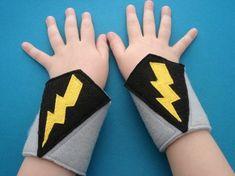 Lightning Bolt Superhero Cuffs