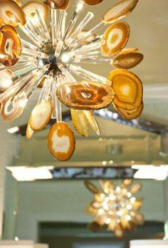 agate slice chandelier custom from http://www.designsanddetailsinteriors.com/