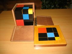 The Trinomial Cube. Purposes: Preparation for mathematics: the cube of the trinomial; introduction for algebra and preparation for the proof of the formula (a+b+c)3 at the Elementary Level (ages 6-9). See Binomial Cube Pin.