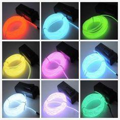 Cheap 1pcs Flexible EL cable de luz de neón de 3M para el partido de danza + Controller Decoración del coche, Compro Calidad Luces Publicitarias directamente de los surtidores de China: característica: Flexible y resistente al agua , se puede doblar en cualquier forma y corte en cualquier longitud P
