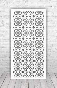 Wood Room Divider, Room Divider Screen, Room Screen, Islamic Art Pattern, Pattern Art, Wood Panel Walls, Wood Wall, Plasma Cutting, Cnc Plasma