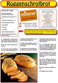 Rezept Roggenschrotbrot Mitterer – Brot ist leben