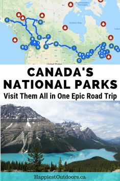 This epic road trip across Canada visits all of Canada's National Parks. Drive across Canada stopping in every single Canadian National Park, plus all the major cities and provincial capitals. How to visit all the National Parks in Canada. Road Trip Map, Road Trip Packing, Road Trip Essentials, Road Trip Hacks, Vancouver, Travel Maps, Travel Usa, Texas Travel, Visit Canada