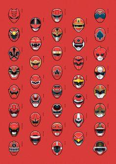 Red — Super Sentai Series by Mark Eastwood, via Behance