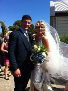 Our director & the beautiful Monique. Wedding, Groom, Groomsmen, Suit, Three-piece suit, Tailor, Bespoke, Melbourne.