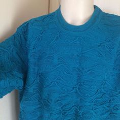 COOGI Australia 100% Mercerised Mens RARE Vintage Cotton Biggie BLUE Sweater XL #COOGI #Coogi