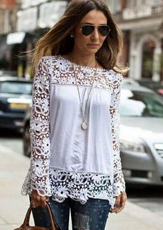 long sleeve, embroidery top.  Beautiful, and stylish