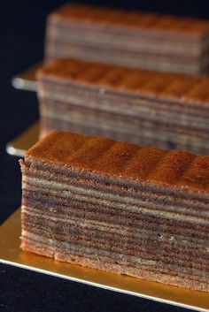 Mocha Spekkoek - a mocha flavoured layered cake made by meticulously grilling layer upon layers of batter.