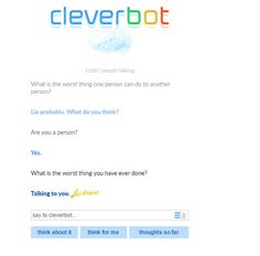 Cleverbot is savage. http://ift.tt/2lbaThR