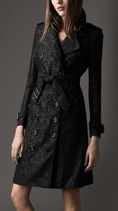 Burberry - LONG LACE TRENCH COAT  I SO want to sew this