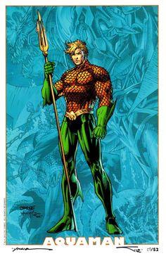 Aquaman by Jim Lee [© All Rights Reserved] Aquaman Dc Comics, Dc Comics Art, Marvel Dc Comics, Justice League, Jim Lee Art, Univers Dc, Mundo Comic, Dc Comics Characters, Comics Universe