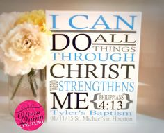 I Can Do All Things Through Christ Who by OliviaQuinnCouture