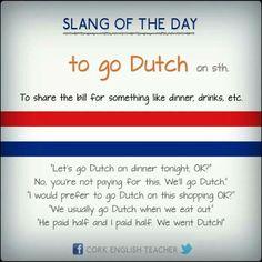 Idiom: To go Dutch