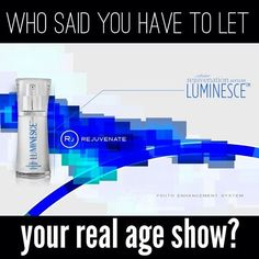 #LUMINESCE™ cellular rejuvenation serum  A rejuvenation product unlike any other. This silky serum has our highest percentage of growth factor complex to super-charge cell renewal. Use it twice daily after cleansing and as a primer to our daily moisturizing complex or advanced night repair. Click through to order a deluxe sample, just pay S&H. <3 #generationyoung #jeunesse