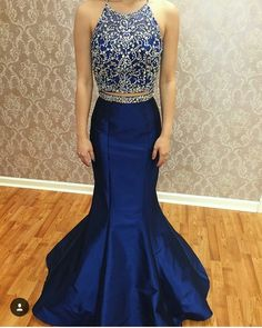 Charming Prom Dress,Two Piece Prom Dress,Beading Prom Dress,Sexy Prom Dress,Long Prom Dress,Evening Formal Gown