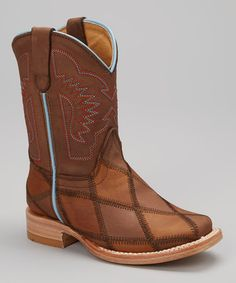 Look what I found on #zulily! Tan & Brown Cowboy Boot - Kids by Bonanza Boots #zulilyfinds