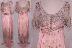 All The Pretty Dresses: Titanic Era Pink and Silver Dress