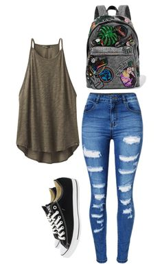 """""""Untitled #989"""" by ladylunaslife on Polyvore featuring Marc Jacobs, prAna, WithChic and Converse"""