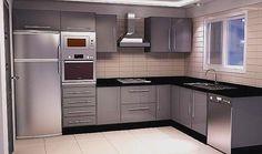 Image result for petite cuisine moderne 2018 Grey Kitchen Designs, Kitchen Cupboard Designs, Kitchen Room Design, Modern Kitchen Design, Interior Design Kitchen, Kitchen Decor, Kitchen Layout Plans, Kitchen Modular, Modern Kitchen Interiors