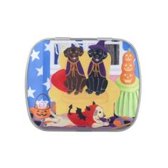 Halloween Party Labradors Candy Tin - halloween decor diy cyo personalize unique party
