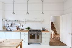 white kitchen subway tiles - Google Search