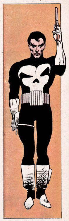 The Punisher as created by John Romita
