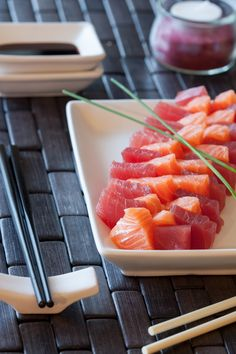 Sashimi Sushi Co, Sashimi Sushi, Ceviche, My Favorite Food, Favorite Recipes, Sushi Time, Japanese Food, Healthy Cooking, Asian Recipes