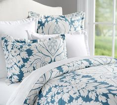 Damask Printed Quilt Cover & Pillowcases