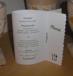 *Menükarte - Tischdeko - Kommunion - Konfirmation - Taufe - Geburtstag - Party usw.* Hallo, viele kennen mich vielleicht, weil sie schon eine Schultüte, Laterne oder so von mir bekommen...
