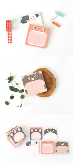 This Big Animal face Memo Pad Set is a collection of adorable animal design memo pads to write your memos! They'll help you remember things, send short messages or even decorate your place! Big Animals, Colorful Animals, Animal Faces, Muji, Planners, Short Messages, School Essentials, Cute Stationery, Rilakkuma