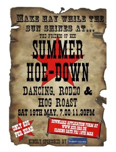 Invitation to hoedown pig roast/Change a bit to fit our party- I like it!