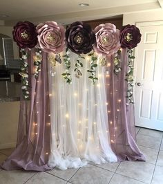 Love paper flower backdrop made by my template client __disa so proud of you paperflowers paperflowertemplates beautiful diy nian masam Quince Decorations, Stage Decorations, Diy Wedding Decorations, Balloon Decorations, Birthday Decorations, Diy Quinceanera Decorations, Homemade Decorations, Quinceanera Party, Wedding Ideas