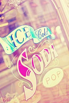 ice cold soda window