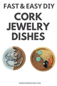 Painted cork jewelry dishes Jewelry Dish, Jewelry Making, Ikea Cork, Cork Coasters, Sewing Crafts, Easy Diy, Paper Crafts, Diy Projects, Dishes