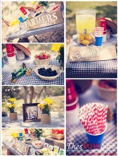 Vintage County Fair Birthday Party (Farmer's Market Table)