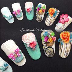 Ногти дизайнногтей росписьнаногтях красивыеногти nails naildesign nails-art