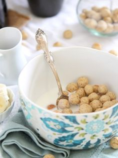 What's for breakfast? Vanilla Almond Puff Cereal.